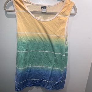Hang ten dip dye tank top large
